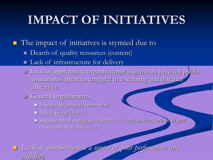 IMPACT OF INITIATIVES