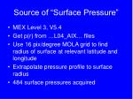 source of surface pressure