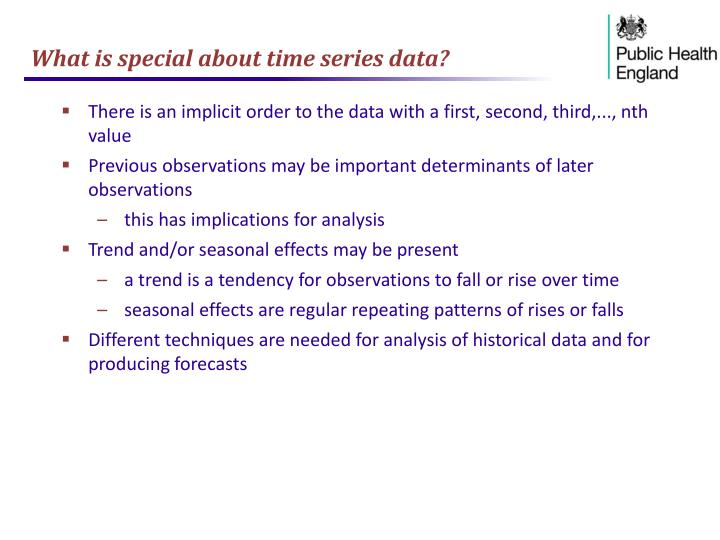 What is special about time series data?