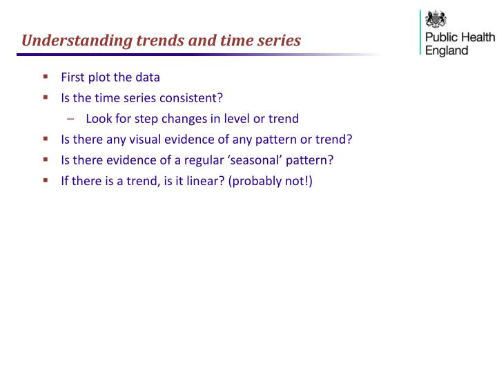 Understanding trends and time series