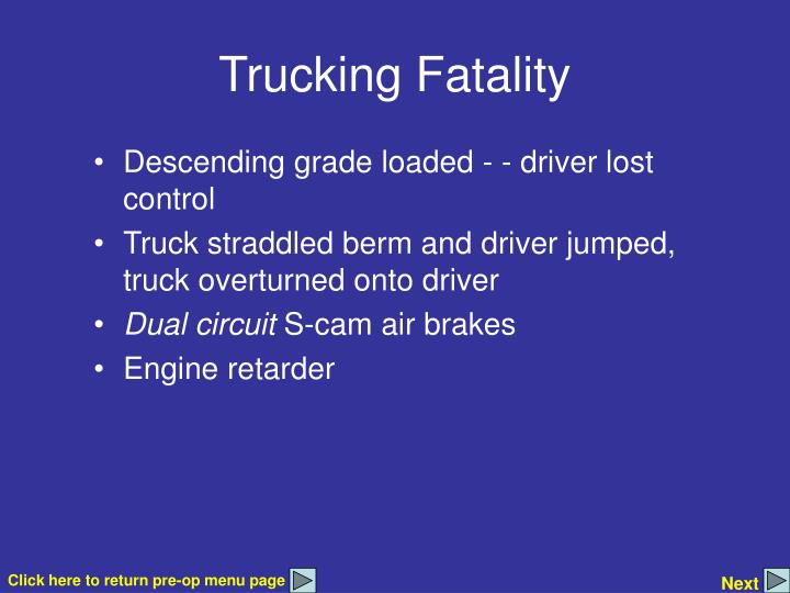 Trucking Fatality