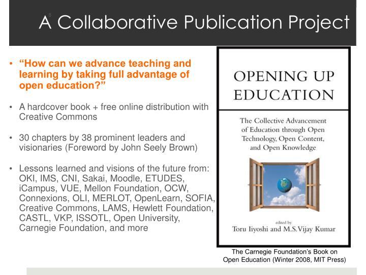 A Collaborative Publication Project