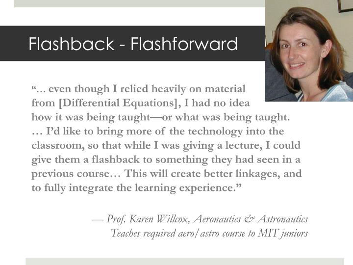 Flashback - Flashforward