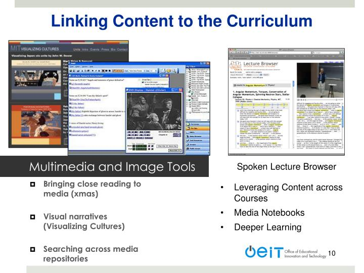 Linking Content to the Curriculum