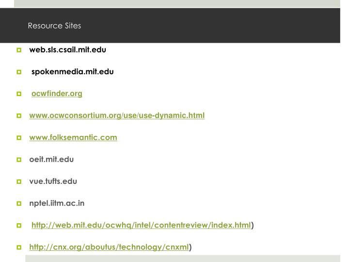 Resource Sites
