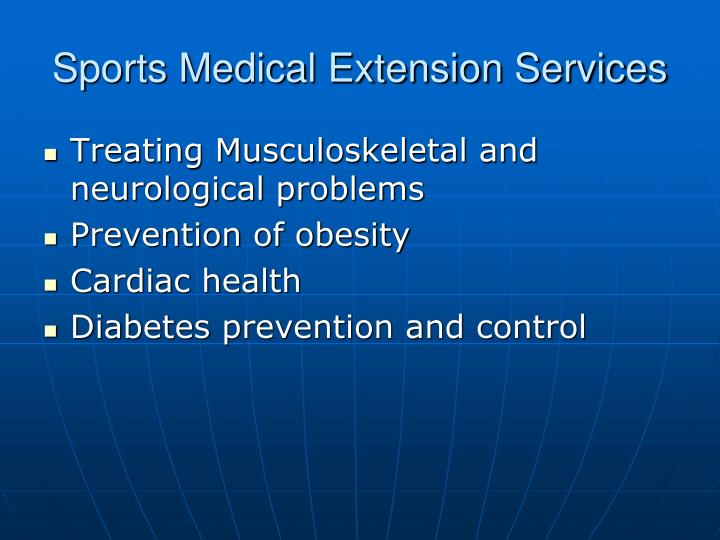 Sports Medical Extension Services