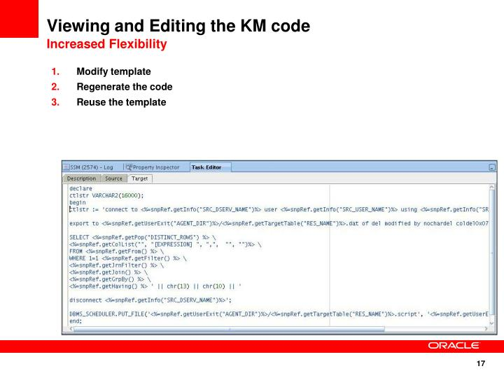 Viewing and Editing the KM code