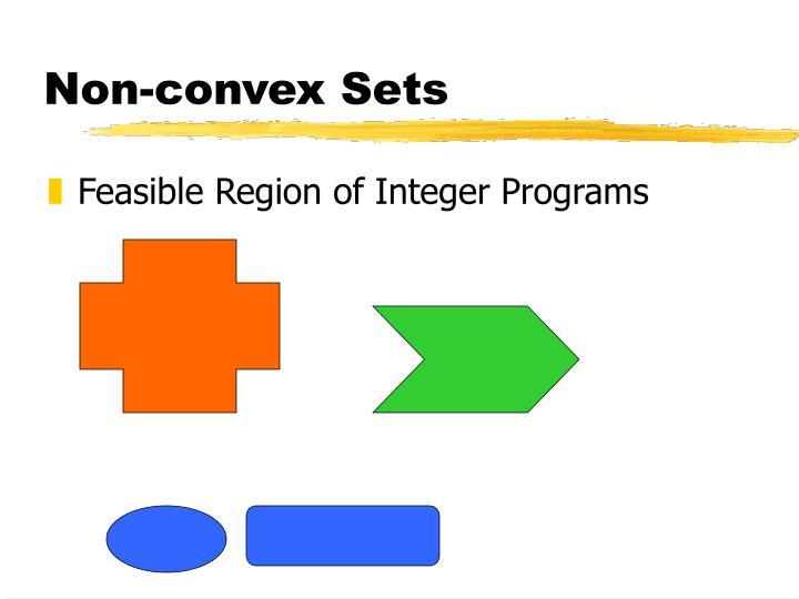 Non-convex Sets