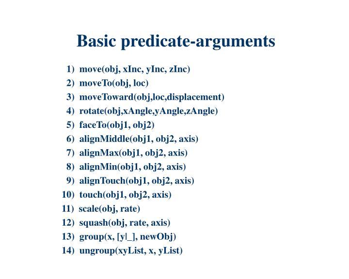 Basic predicate-arguments