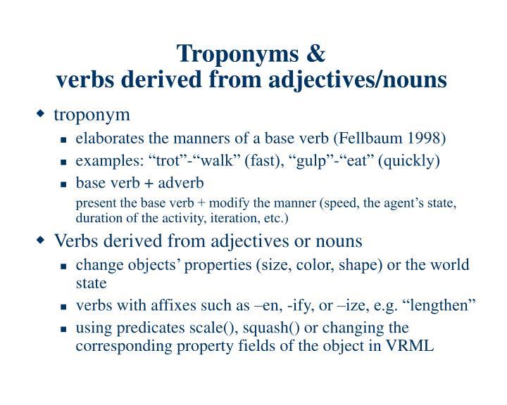 Troponyms &