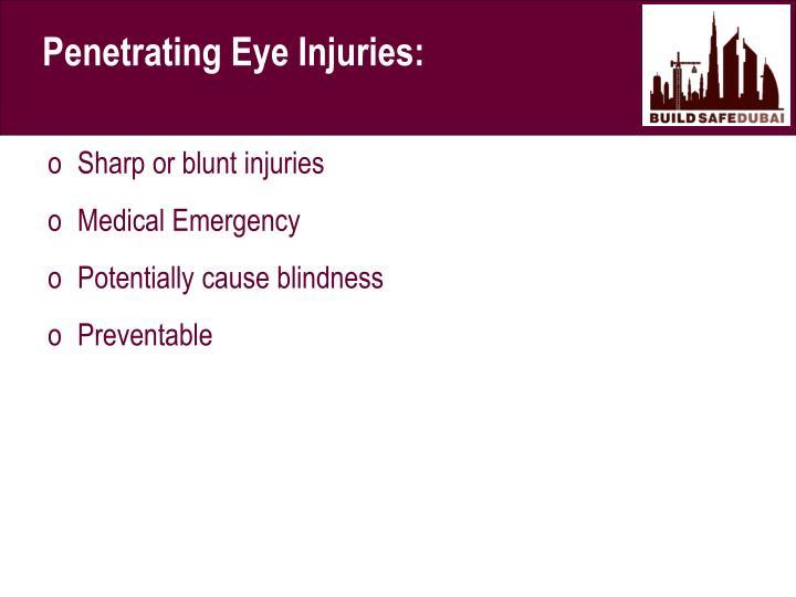 Penetrating Eye Injuries: