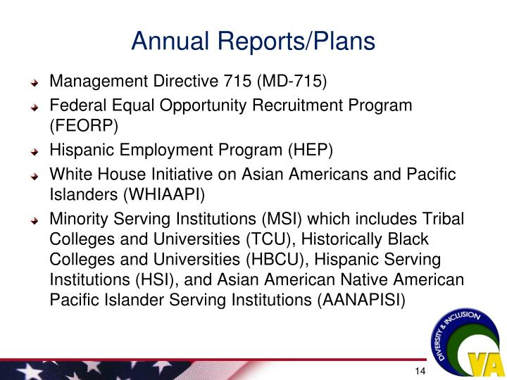 Annual Reports/Plans
