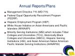 annual reports plans