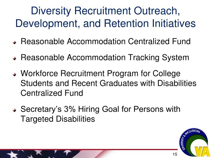 Diversity Recruitment Outreach, Development, and Retention Initiatives