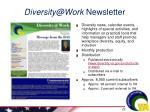 diversity@work newsletter