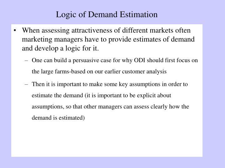 Logic of Demand Estimation