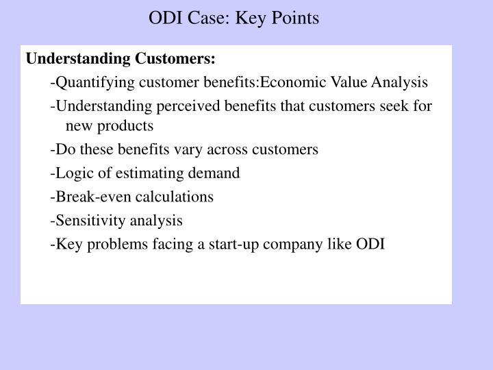 ODI Case: Key Points