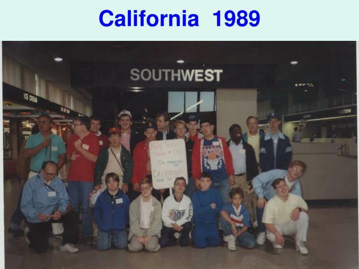 California  1989