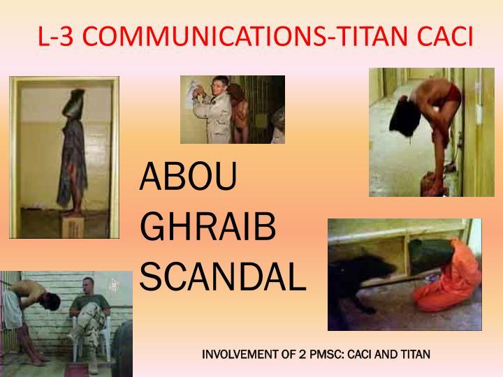 L-3 COMMUNICATIONS-TITAN