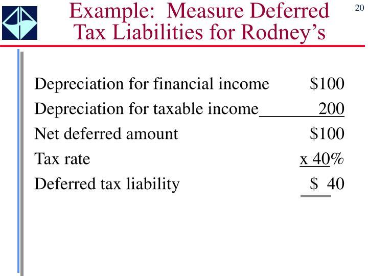 Example:  Measure Deferred