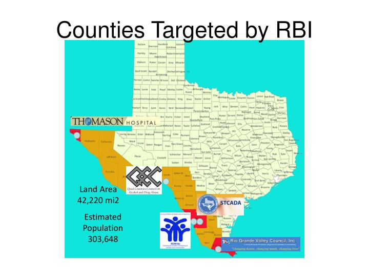 Counties Targeted by RBI