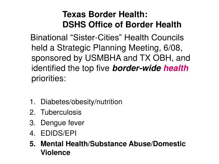 Texas Border Health: