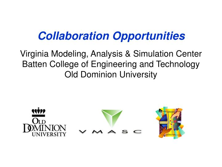 Collaboration Opportunities