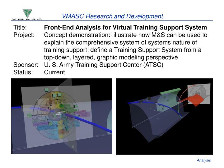 VMASC Research and Development