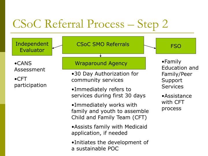 CSoC Referral Process – Step 2