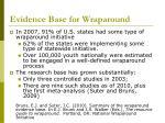evidence base for wraparound