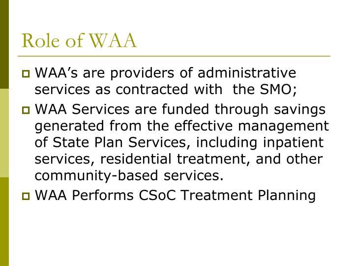 Role of WAA
