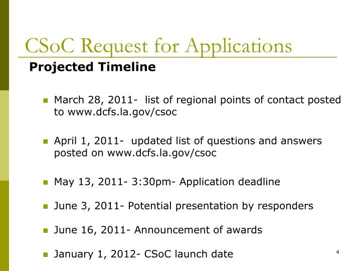 CSoC Request for Applications