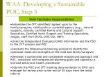 waa developing a sustainable poc step 3
