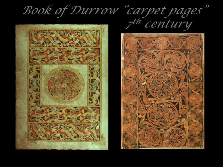 """Book of Durrow """"carpet pages"""""""