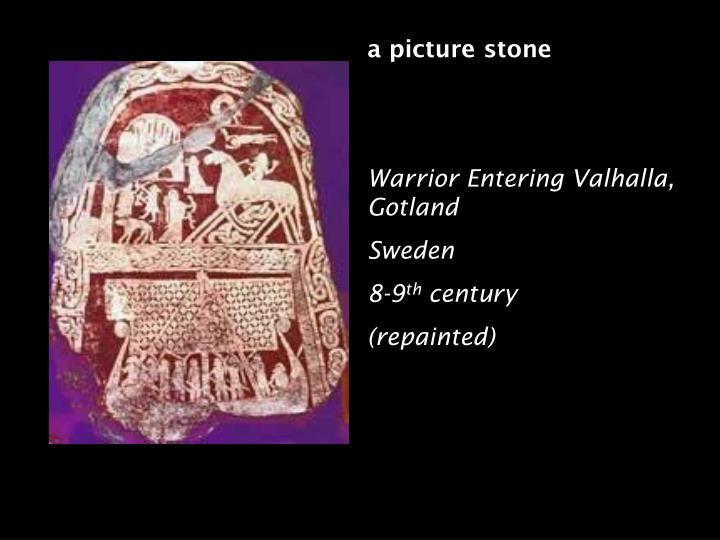 a picture stone