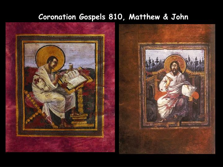 Coronation Gospels 810, Matthew & John