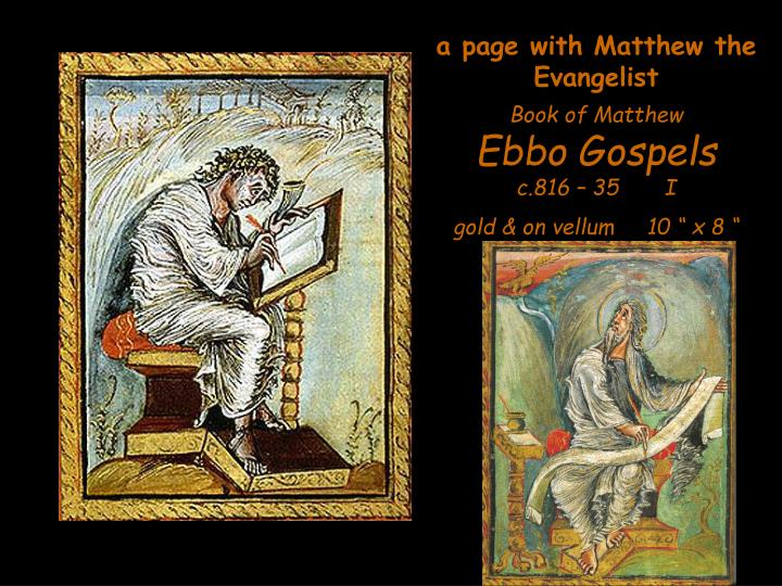 a page with Matthew the Evangelist