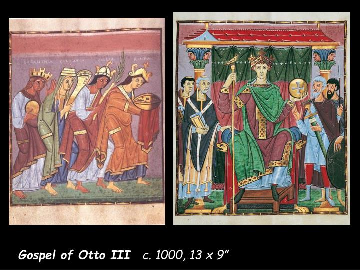 Gospels of Otto III                                                                          ink & color on vellum                                                                   8 x 6