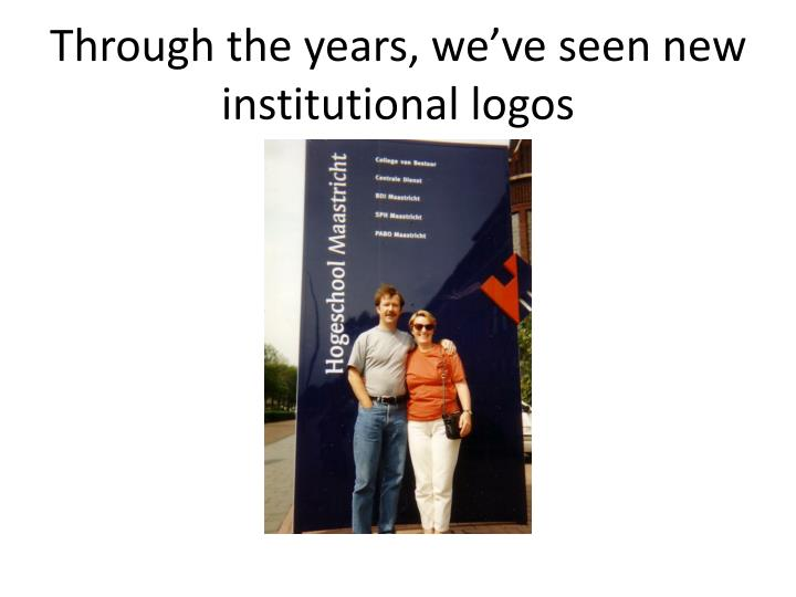 Through the years, we've seen new institutional logos