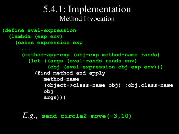 5.4.1: Implementation