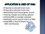 application uses of par s