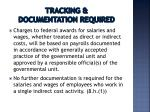tracking documentation required