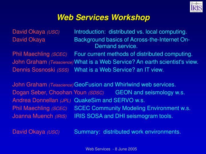 Web Services Workshop
