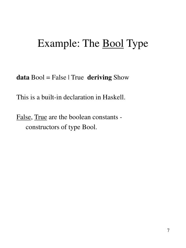 Example: The