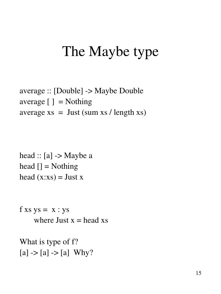 The Maybe type