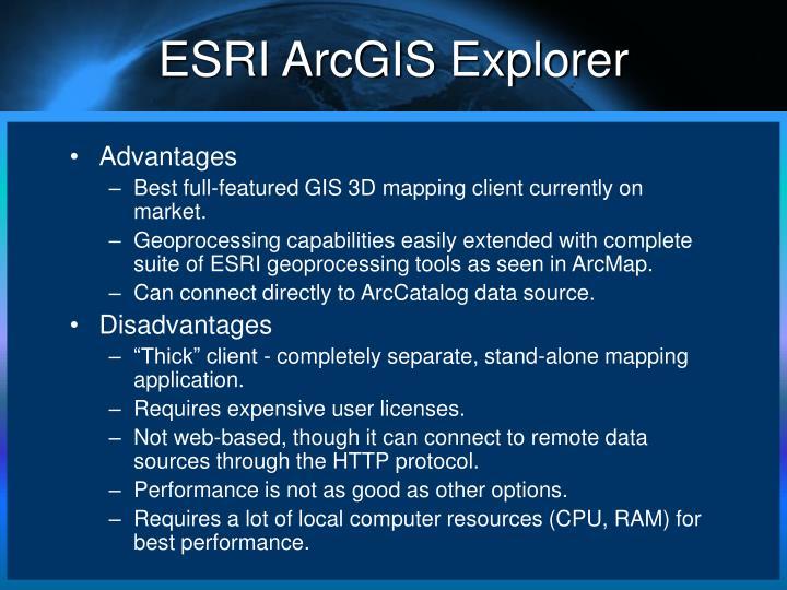 ESRI ArcGIS Explorer