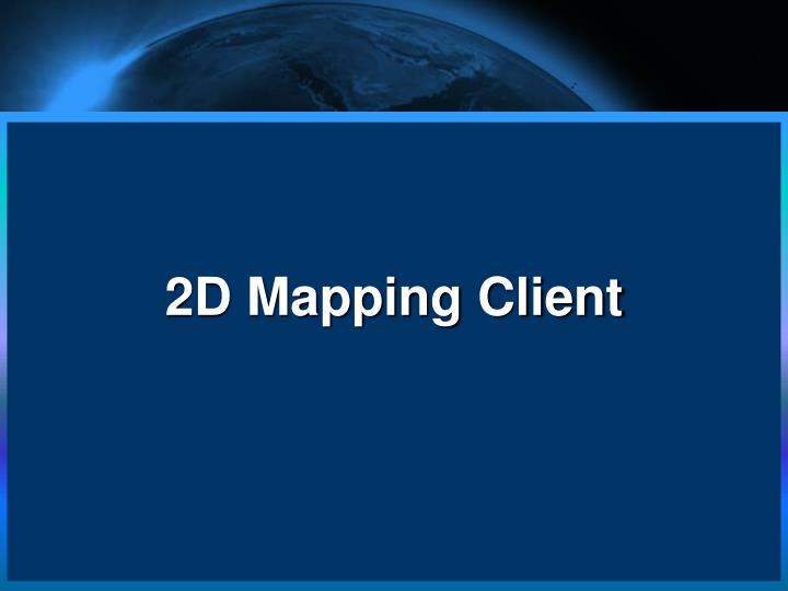 2D Mapping Client