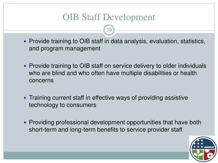 OIB Staff Development