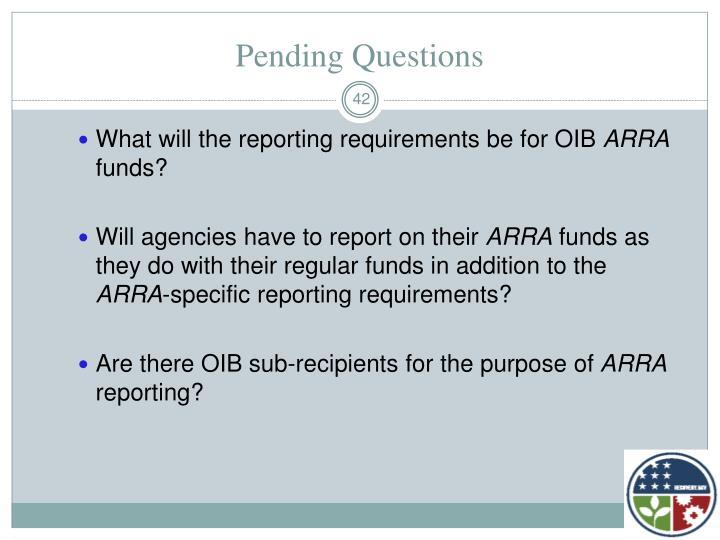 Pending Questions