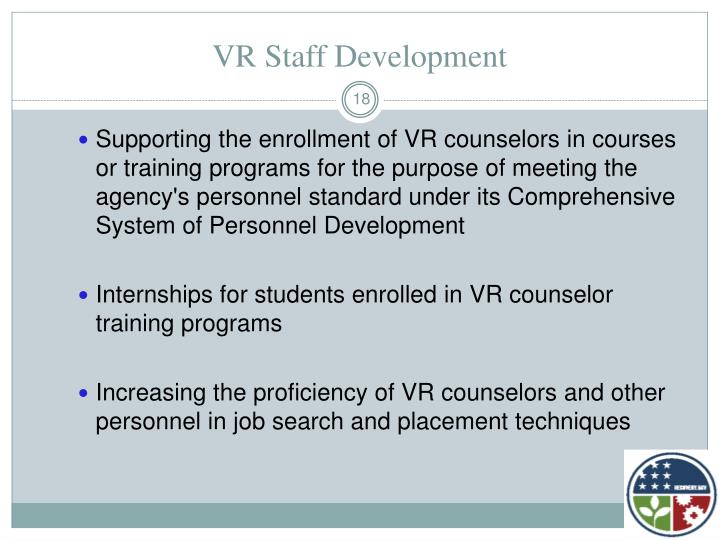 VR Staff Development